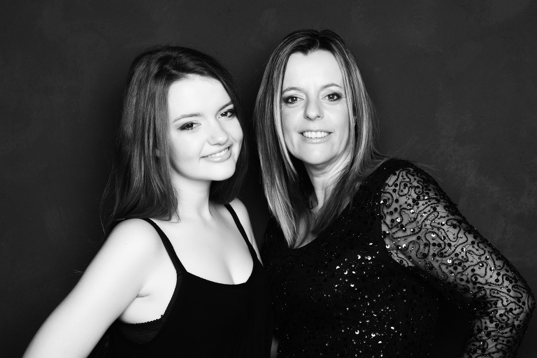 mother and daughter makeover photography present